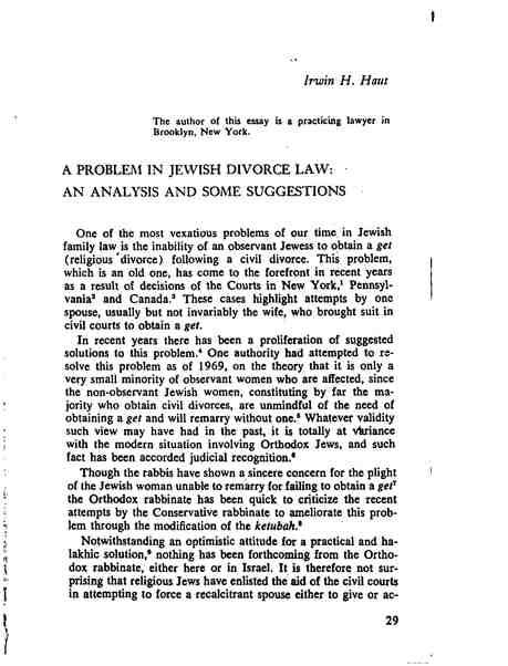 the mistreatment of women despite changes in jewish divorce laws
